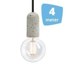 RETAIL LIGHTING SPOTS - SUSPENDED LED LIGHTS : 4x filament pendant lamps + rail 4m