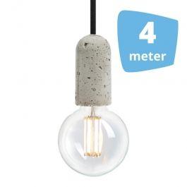 LAMPADE SPOT PER NEGOZI - LAMPADE A SOSPENSIONE LED : 4x lampada a sospensione a filamento + binario 4m