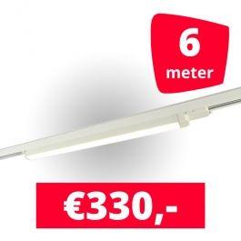 LAMPADE SPOT PER NEGOZI - ILLUMINAZIONE A BINARIO A LED LINEARE : 6m rotaia + 3 led lineare bianca 120 cm 3500k 30w