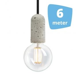 RETAIL LIGHTING SPOTS - SUSPENDED LED LIGHTS : 6x filament pendant lamp  + rail 6m