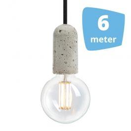 LAMPADE SPOT PER NEGOZI - LAMPADE A SOSPENSIONE LED : 6x lampada a sospensione a filamento + binario 6m