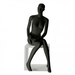 FEMALE MANNEQUINS - MANNEQUIN SEATED : Abstract female mannequin vir.mer-f black