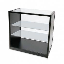 ESPOSITORI E BANCONI PER NEGOZI - BANCONI NEGOZI CLASSICO : Bancone da negozio con vetrina nera 100 cm