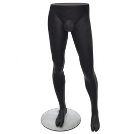 JUST ARRIVED : Black male mannequin leg mannequin with round base