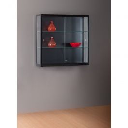 RETAIL DISPLAY CABINET - WALL DISPLAY CABINET : Black wall display case 100 x 30 x 88 cm