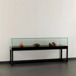 RETAIL DISPLAY CABINET - EXHIBITION DISPLAY CABINET : Black window with 150 cm glass bell