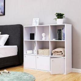 RETAIL DISPLAY FURNITURE - STORAGE UNITS : Bookcase white storage shelf