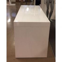 MATERIEL AGENCEMENT MAGASIN - TABLES : Bureau blanc brillant en bois