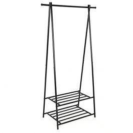 CLOTHES RAILS - CLOTHING RAIL WARDROBE : Clothes rack metal wardrobe with support 2 levels