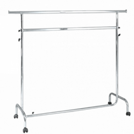 CLOTHES RAILS - HANGING RAILS WITH WHEELS : Hanging clothes rails removable in metal