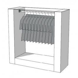 CLOTHES RAILS - CLOTHING RAIL WARDROBE : Clothing rail wardrobe s-r-prs-001