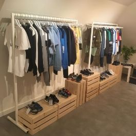 Clothing rail straight Clothing rail withe color 120 cm Portants shopping