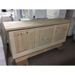 COMPTOIRS MAGASIN - COMPTOIRS CLASSIQUES : Commode magasin en bois brut 200 cm