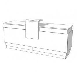 COMPTOIRS MAGASIN : Comptoir avec rangement blanc s-c-pas-001