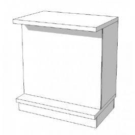 COMPTOIRS MAGASIN : Comptoir blanc basic s-c-pec-006