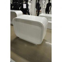 COMPTOIRS MAGASIN - COMPTOIRS MODERNE : Comptoir blanc brillant 130 cm