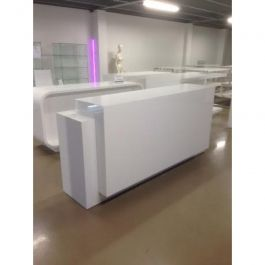 COMPTOIRS MAGASIN - COMPTOIRS MODERNE : Comptoir en bois blanc brillant