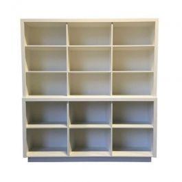 COMPTOIRS MAGASIN - COMPTOIRS CLASSIQUES : Comptoir classique blanc a casier 200 cm