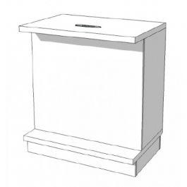 COMPTOIRS MAGASIN : Comptoir classique blanc s c-pec-007