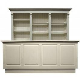 COMPTOIRS MAGASIN - COMPTOIRS CLASSIQUES : Comptoir de 250 cm de large avec armoire à tiroirs