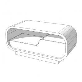 COMPTOIRS MAGASIN : Comptoir magasin angle arrondis blanc brillant