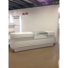 COMPTOIRS MAGASIN : Comptoir magasin blanc brillant
