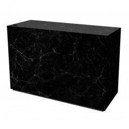 COMPTOIRS MAGASIN : Comptoir magasin noir brillant effet marbre