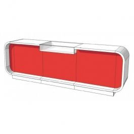 COMPTOIRS MAGASIN : Comptoir magasin rouge et blanc