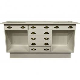 Comptoirs classiques Comptoir magasin style authentique en bois avec tiroirs Comptoirs shopping