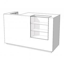 COMPTOIRS MAGASIN : Comptoir vitrine blanc s c-pam-001