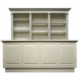 COUNTERS DISPLAY & GONDOLAS - CLASSICAL COUNTERS DISPLAY : Counter 250 cm wide with cupboard with drawers