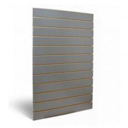 RETAIL DISPLAY FURNITURE : Dark grey grooved panel 10 cm