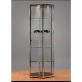 RETAIL DISPLAY CABINET - SHOWCASES WITH LIGHTING : Display cabinet metal and glass
