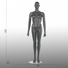 FEMALE MANNEQUINS - MANNEQUINS SPORT : Display sport female mannequins gray