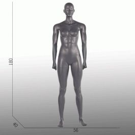 FEMALE MANNEQUINS - MANNEQUINS SPORT : Display sport female mannequins gray straight position
