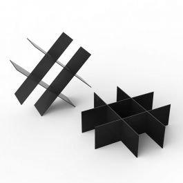 RETAIL DISPLAY FURNITURE - ACCESSORY DISPLAYS : Display stand for black belts