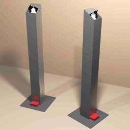 ENCAISSEMENT ET SECURITE MAGASIN - MATERIEL PROTECTION COVID : Distributeur gel hydroalcoolique à pied gris