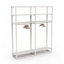 RETAIL DISPLAY FURNITURE - GONDOLAS FOR STORES : Modular shelf bigshop 8800 white