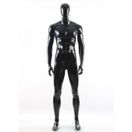 MALE MANNEQUINS - ABSTRACT MANNEQUINS : Faceless male mannequin black glossy