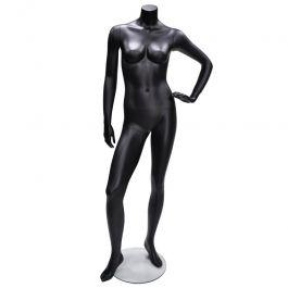 FEMALE MANNEQUINS - MANNEQUIN HEADLESS : Female mannequins headless opw 14 hl black