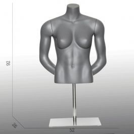 FEMALE MANNEQUIN BUST - SPORT TORSOS AND BUSTS : Female sport bust arms behind