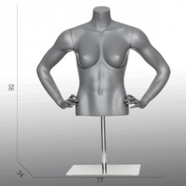 FEMALE MANNEQUIN BUST - SPORT TORSOS AND BUSTS : Female sport bust mannequins with base