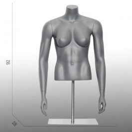 FEMALE MANNEQUIN BUST - SPORT TORSOS AND BUSTS : Female sport bust with base