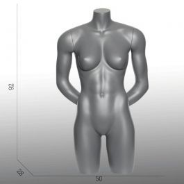 FEMALE MANNEQUIN BUST - SPORT TORSOS AND BUSTS : Female sport torso mannequin arms at the back