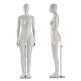 FEMALE MANNEQUINS - FLEXIBLE DISPLAY MANNEQUINS : Flexible mannequin grey color abstract face