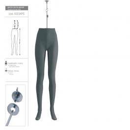 ACCESSORIES FOR MANNEQUINS - FEMALE LEG MANNEQUINS : Flexible mannequin legs woman gray