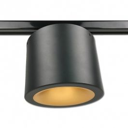 SISTEMAS DE LAMPARAS PARA NEGOCIOS - SPOT EN RIEL LED : Foco led philips negro 2200 kelvin