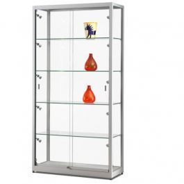 RETAIL DISPLAY CABINET - SHOWCASES WITH LIGHTING : Glass display cabinet with light 10 led