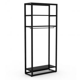 RETAIL DISPLAY FURNITURE - GONDOLAS FOR STORES : Gondola for clothes with black shelves