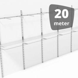 MATERIEL AGENCEMENT MAGASIN - GONDOLES MURALES : Gondole mur en metal 20 metres